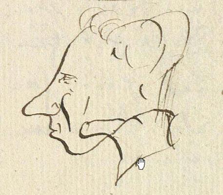 Hans Christian Andersen, autorretrato de 1830.