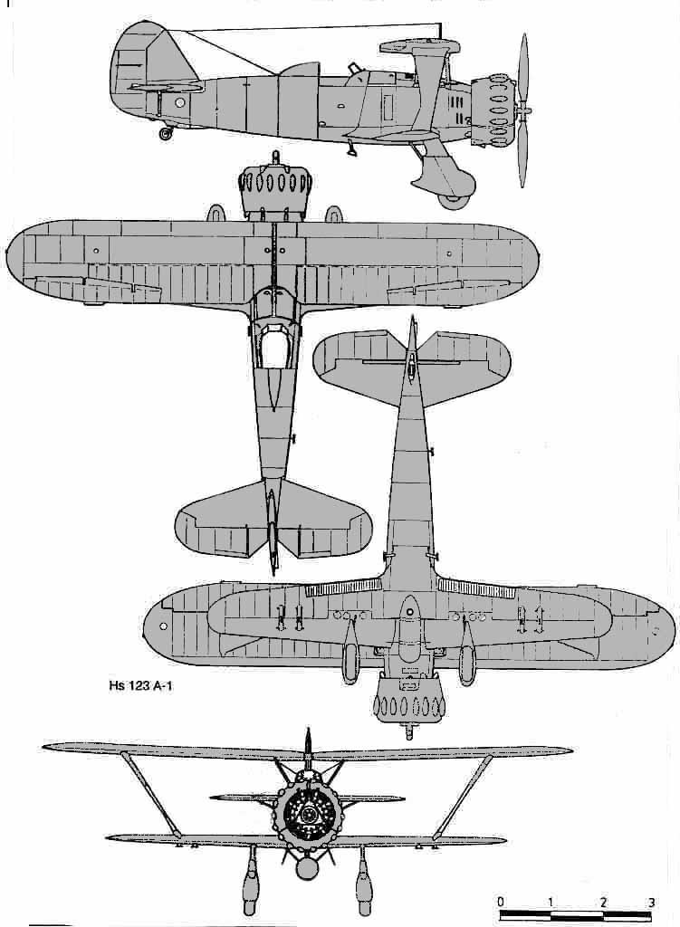 Henschel Hs 123 drawing