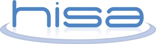 logo of the Health Informatics Society of Australia; hisa with disc around it