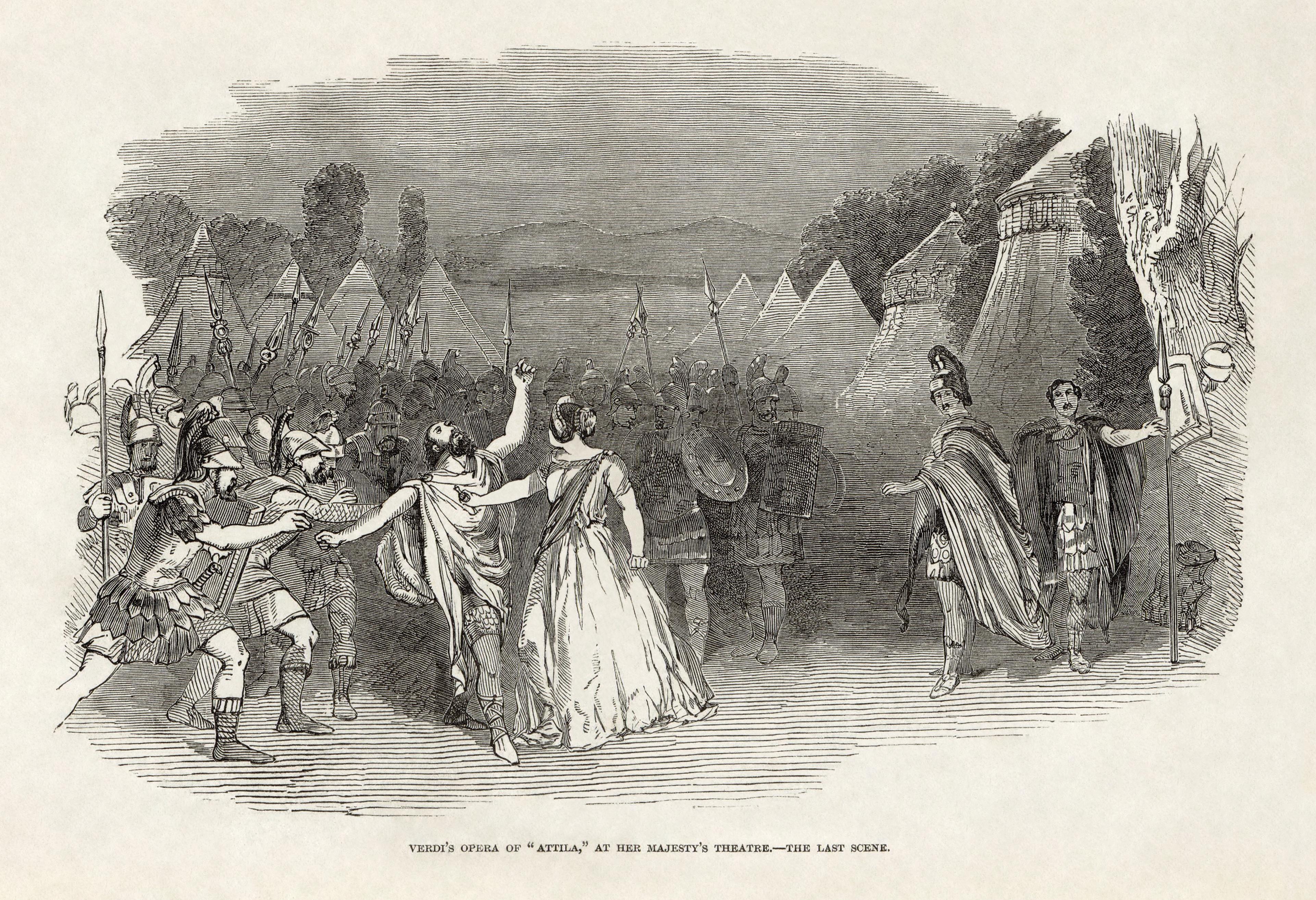 Attila opera wikipedia illustrated london news giuseppe verdis attila at her majestys theatre londong stopboris Gallery