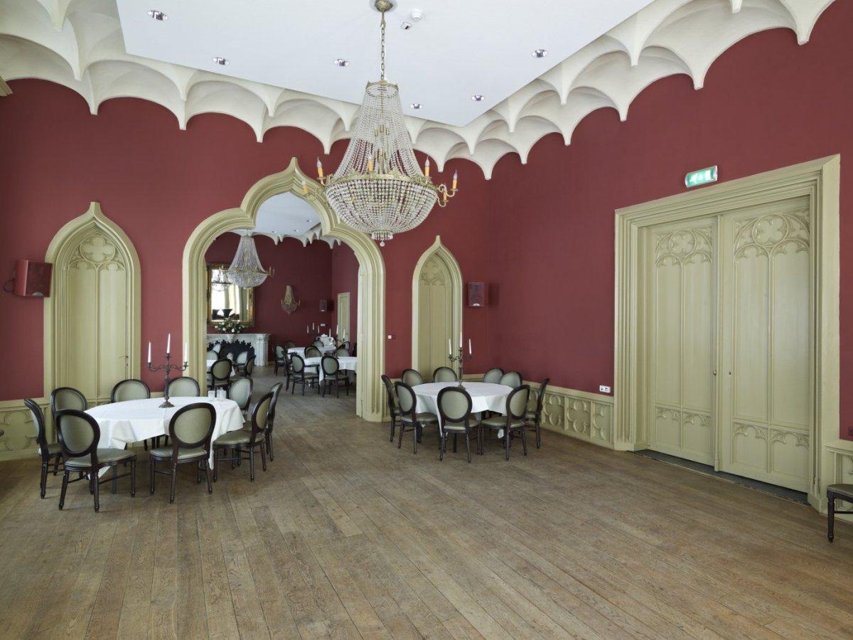 File:Interieur, overzicht van de Hackfortzaal, met neo-Gotische ...