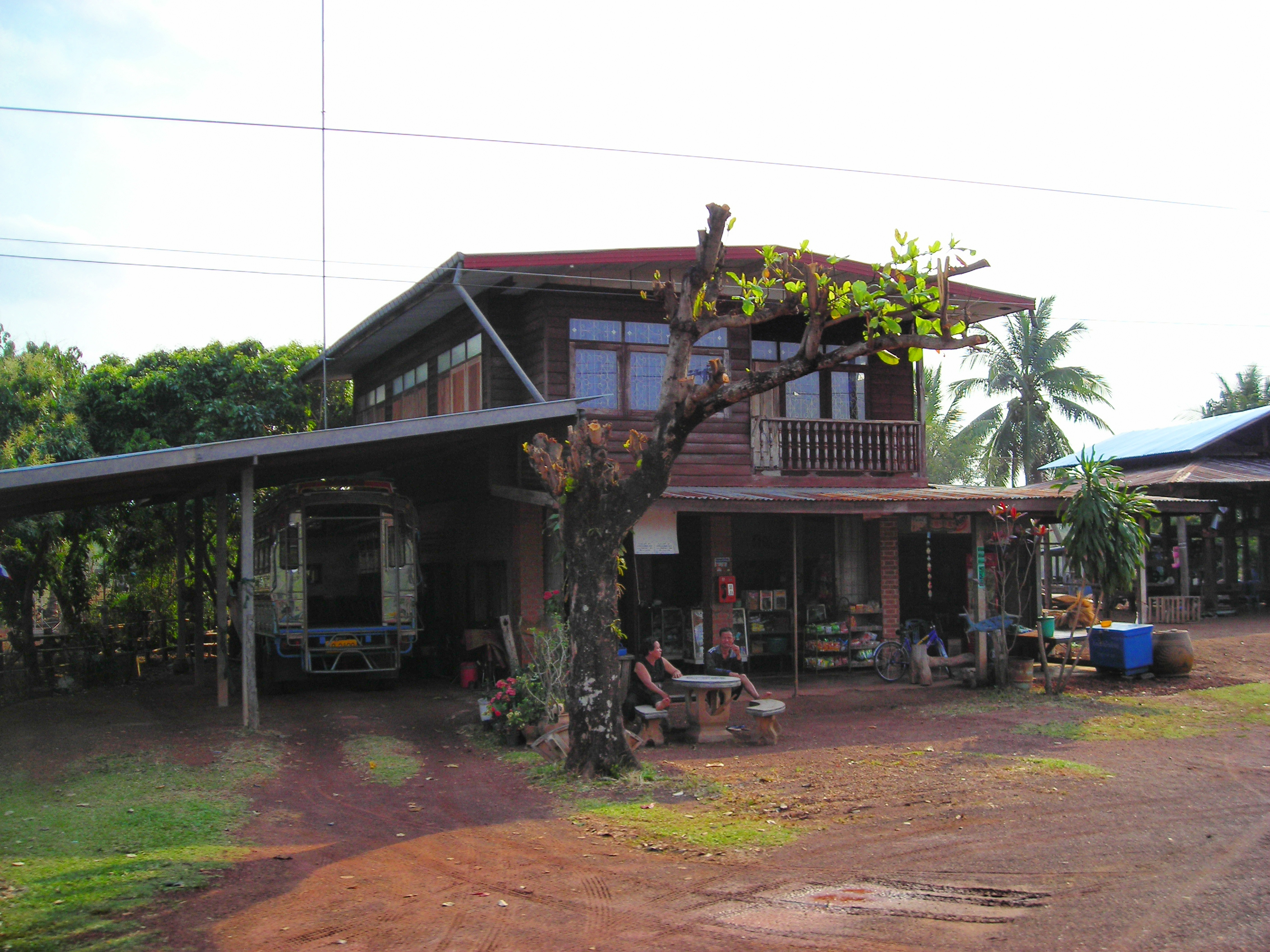File Isaan House And Shop Jpg Wikimedia Commons