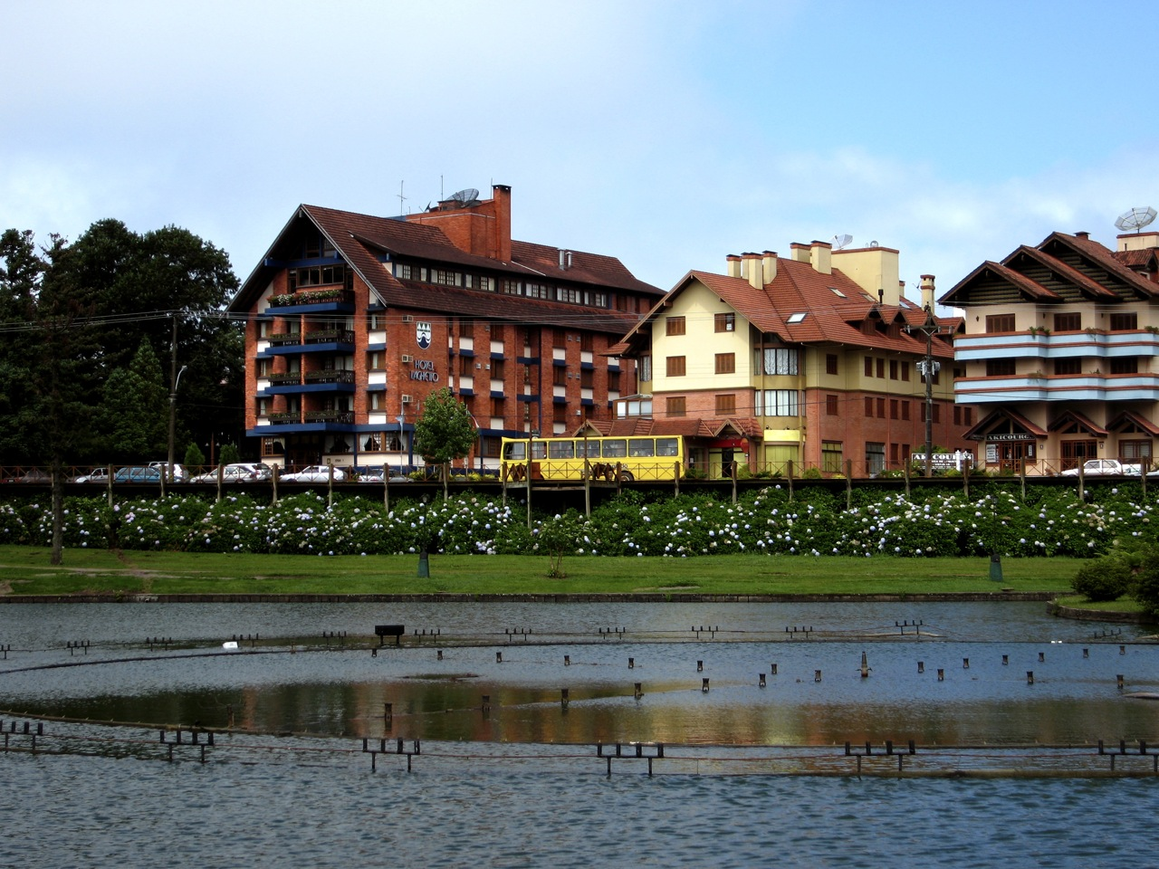 The town of Gramado, where there are occasional snowfalls.