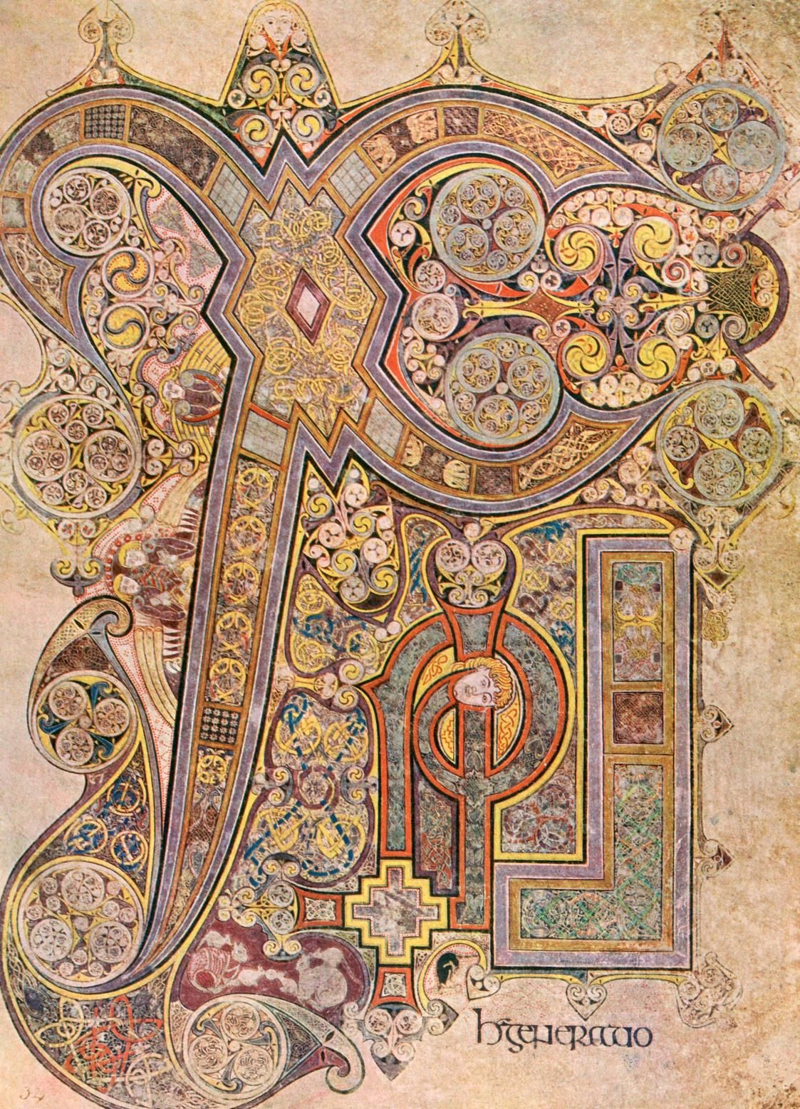 E Book Of Kells Folio 34r of the Book of Kells