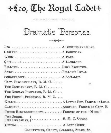 Dramatis Personæ