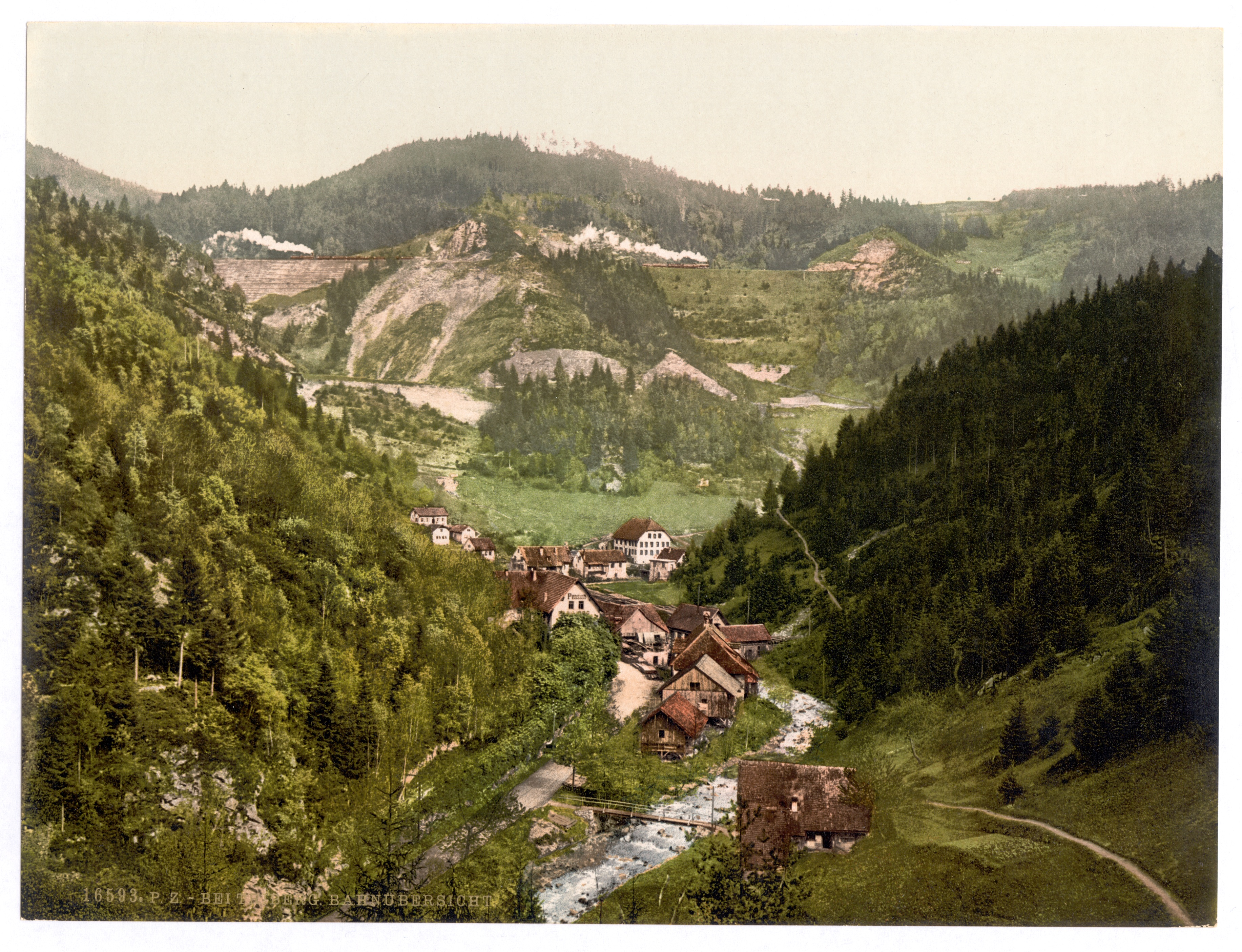 The Black Forest Germany >> File:Looking towards the railroad near Treiberg, Treiberg, Black Forest, Baden, Germany ...
