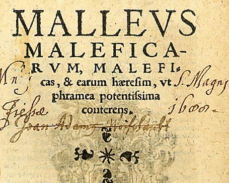 Malleus maleficarum, K%C3%B6ln 1520, Titelseite.jpg