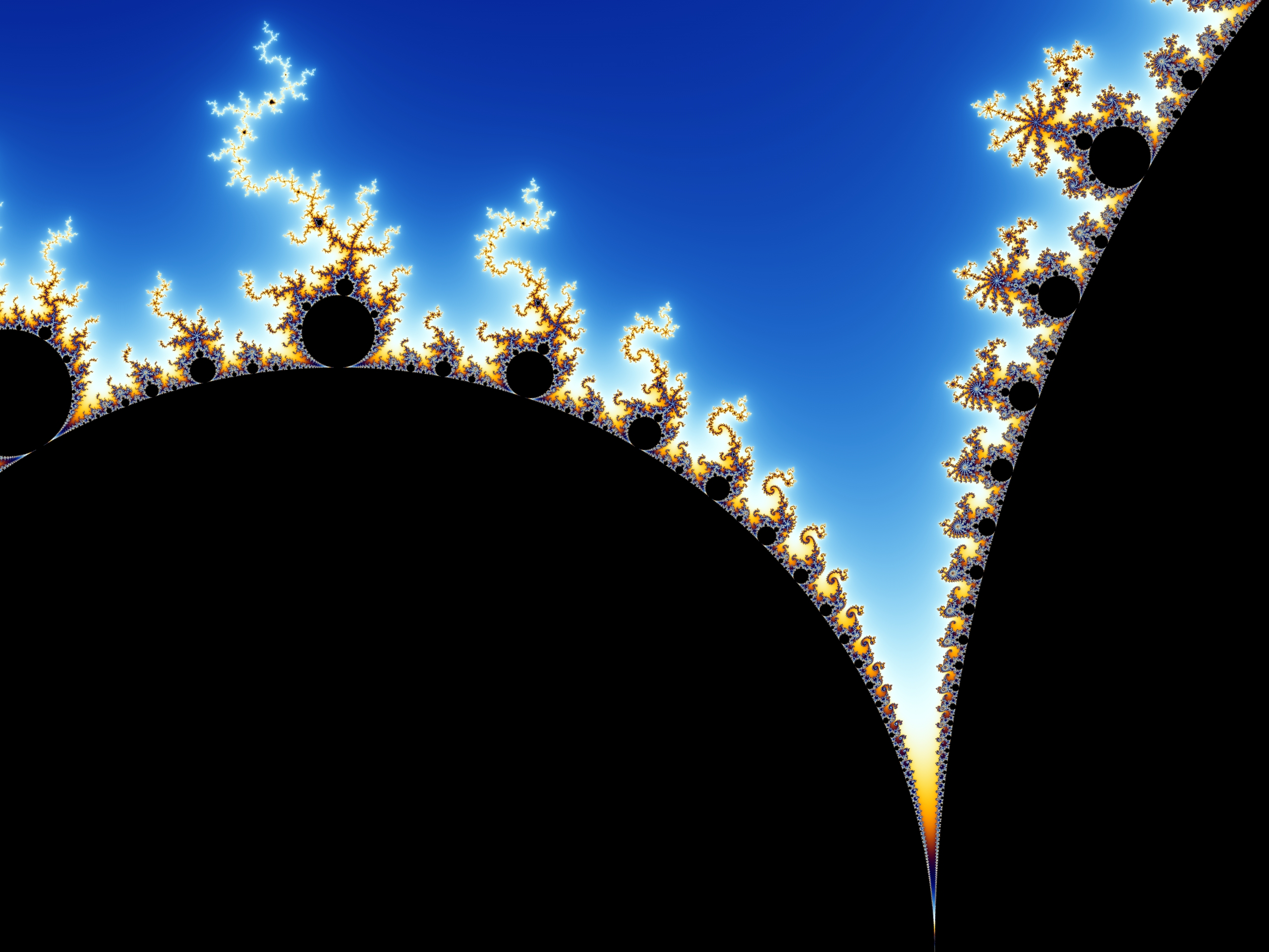 An image of the Mandelbrot set.