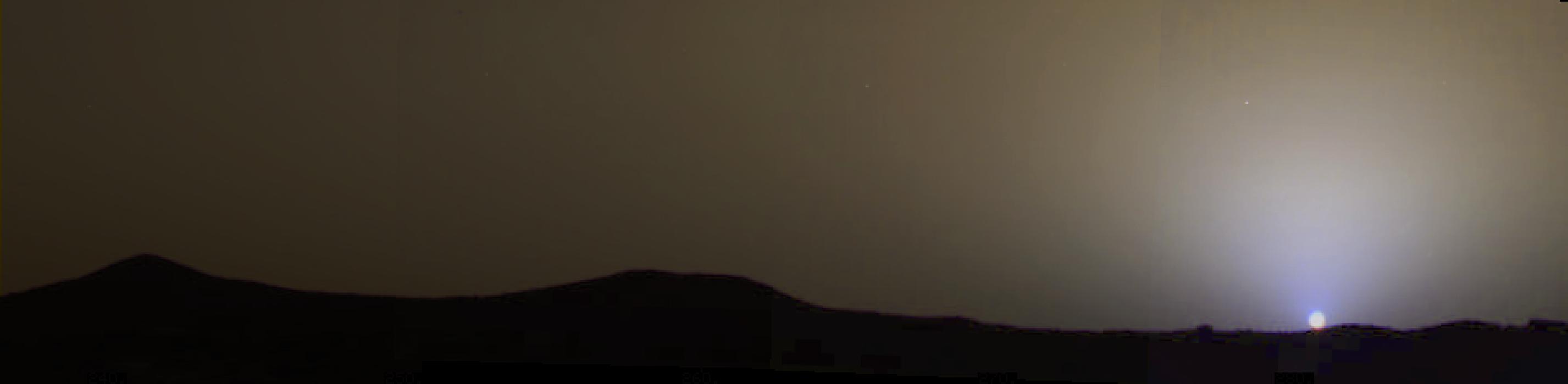 sunset on mars nasa - photo #5
