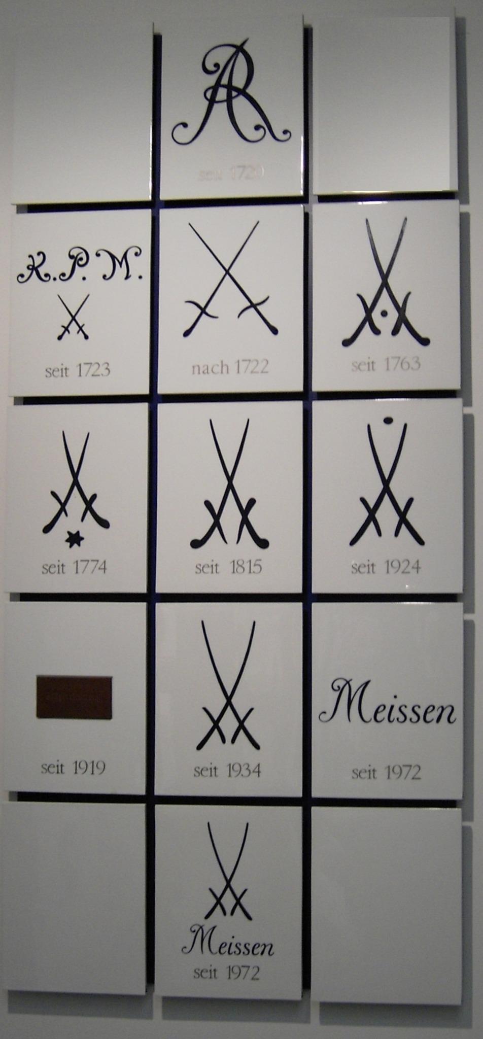 Historie Markenzeichen Meissen