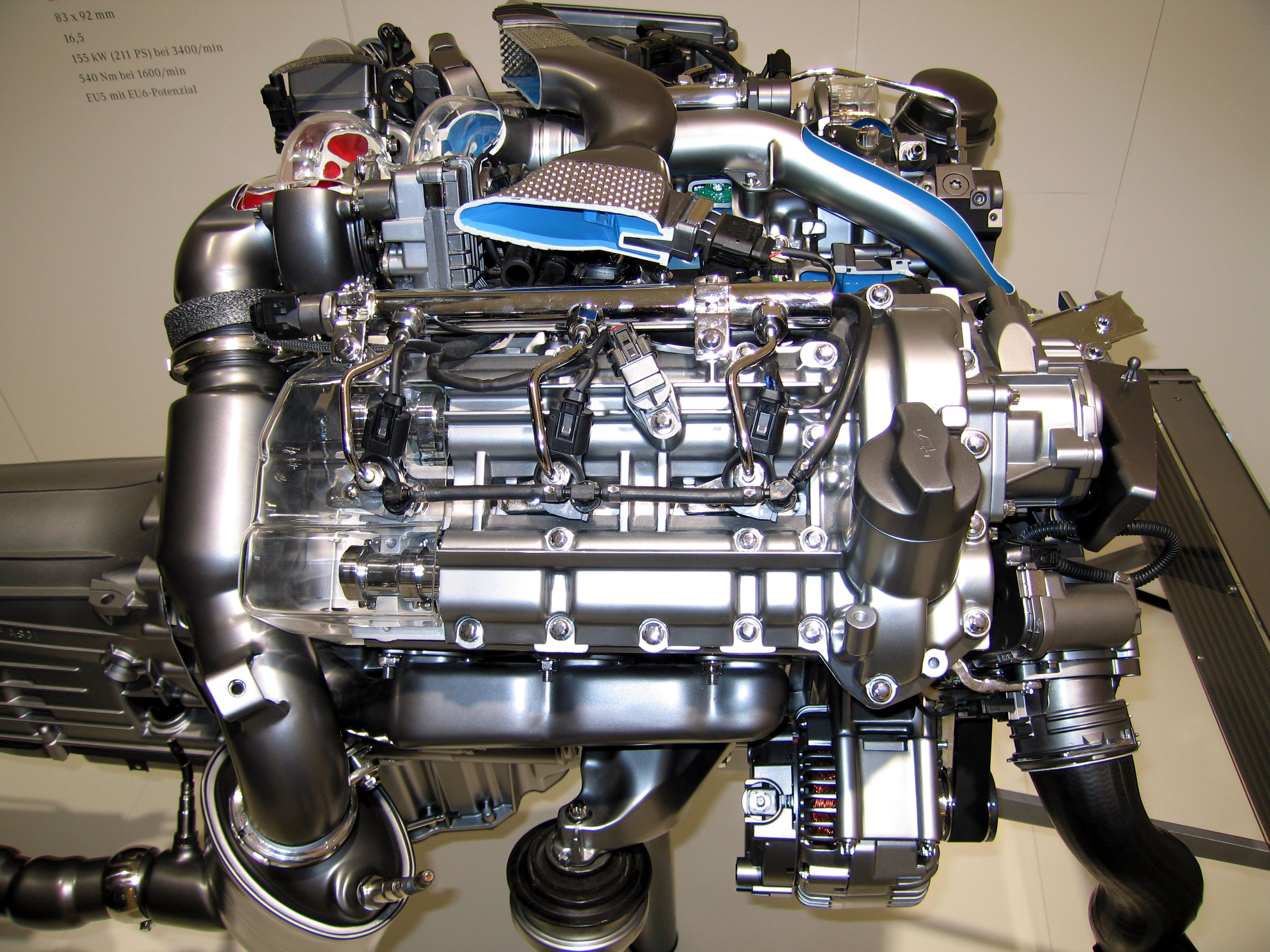File mercedes benz e300 w211 bluetech engine for Mercedes benz engine