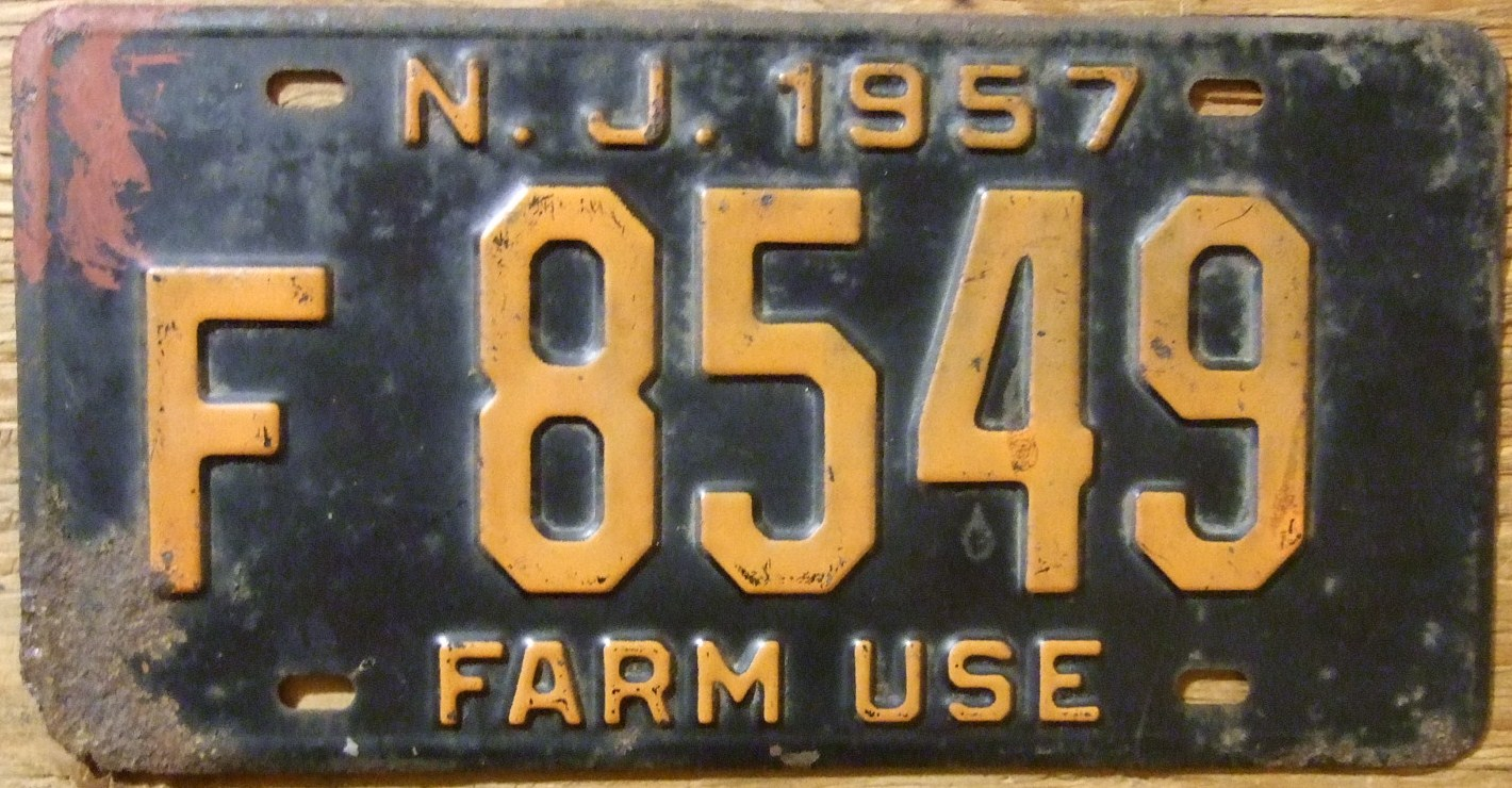 File:NEW JERSEY 1957 -FARM USE LICENSE PLATE - Flickr - woody1778a ...