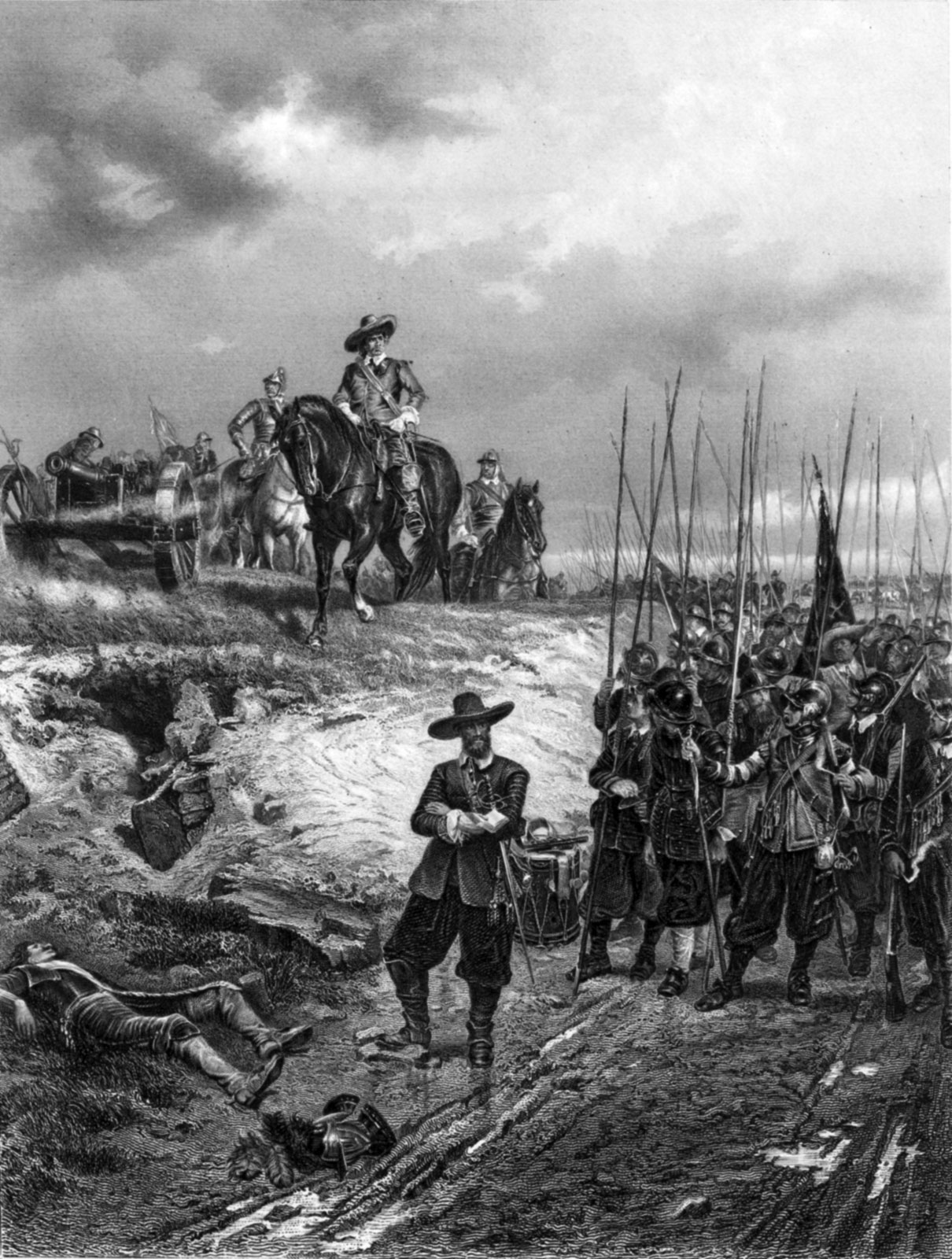 the reason behind the civil war in england in 1642 Convention uses the name the english civil war (1642-1651) to refer collectively to the civil wars in england and the scottish civil war, which began with the raising of king charles i's standard at nottingham on 22 august 1642, and ended on 3 september 1651 at the battle of worcester.