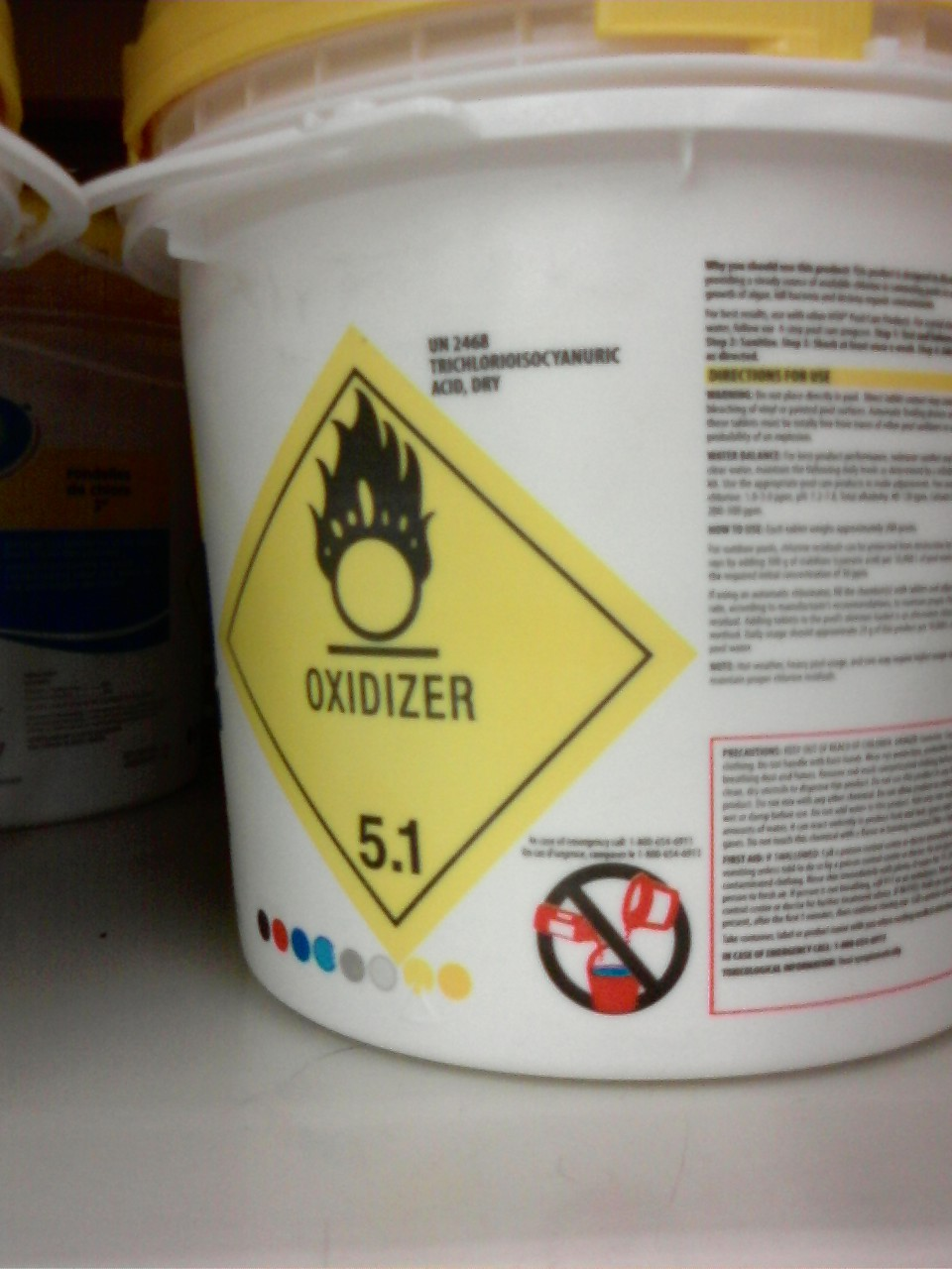 pool chemicals for fire starter