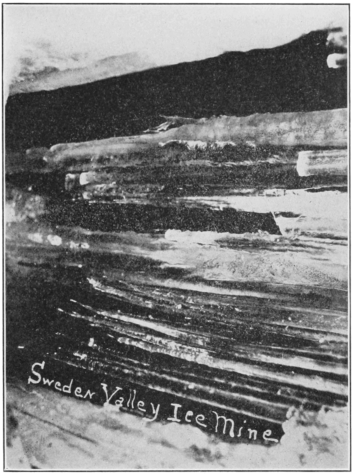 PSM V82 D287 Icicles forming at the top of the ice mine shaft.png