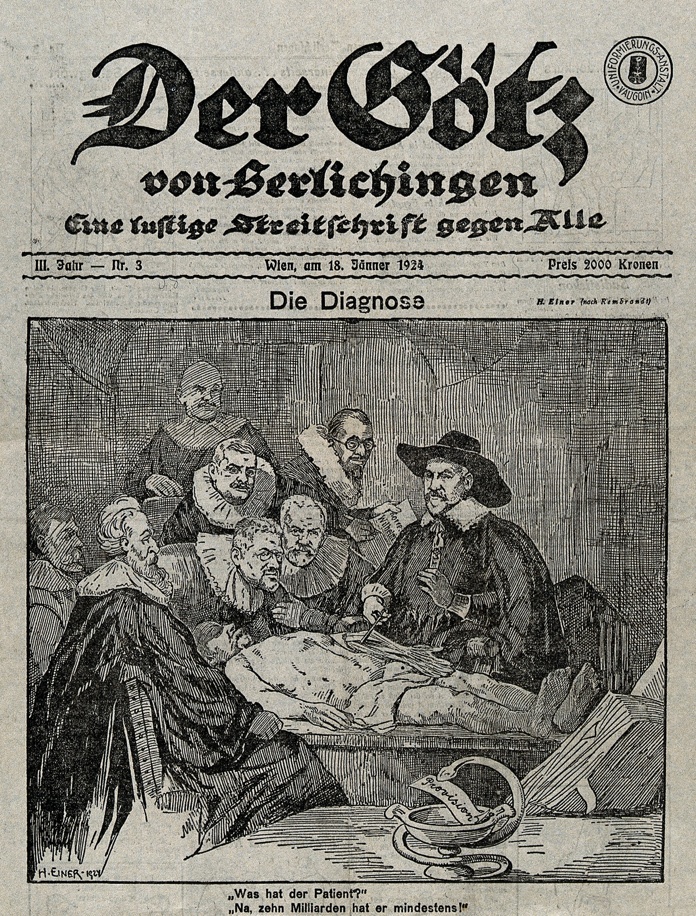 File:Parody of the Anatomy lesson of Dr Tulp, caricaturing Wellcome ...