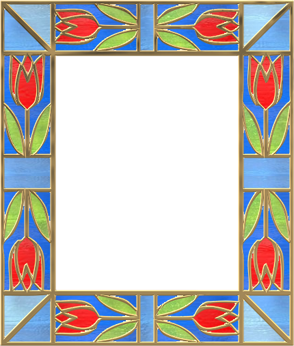 File:Picture frame leaves stainedglass 05.png - Wikimedia Commons