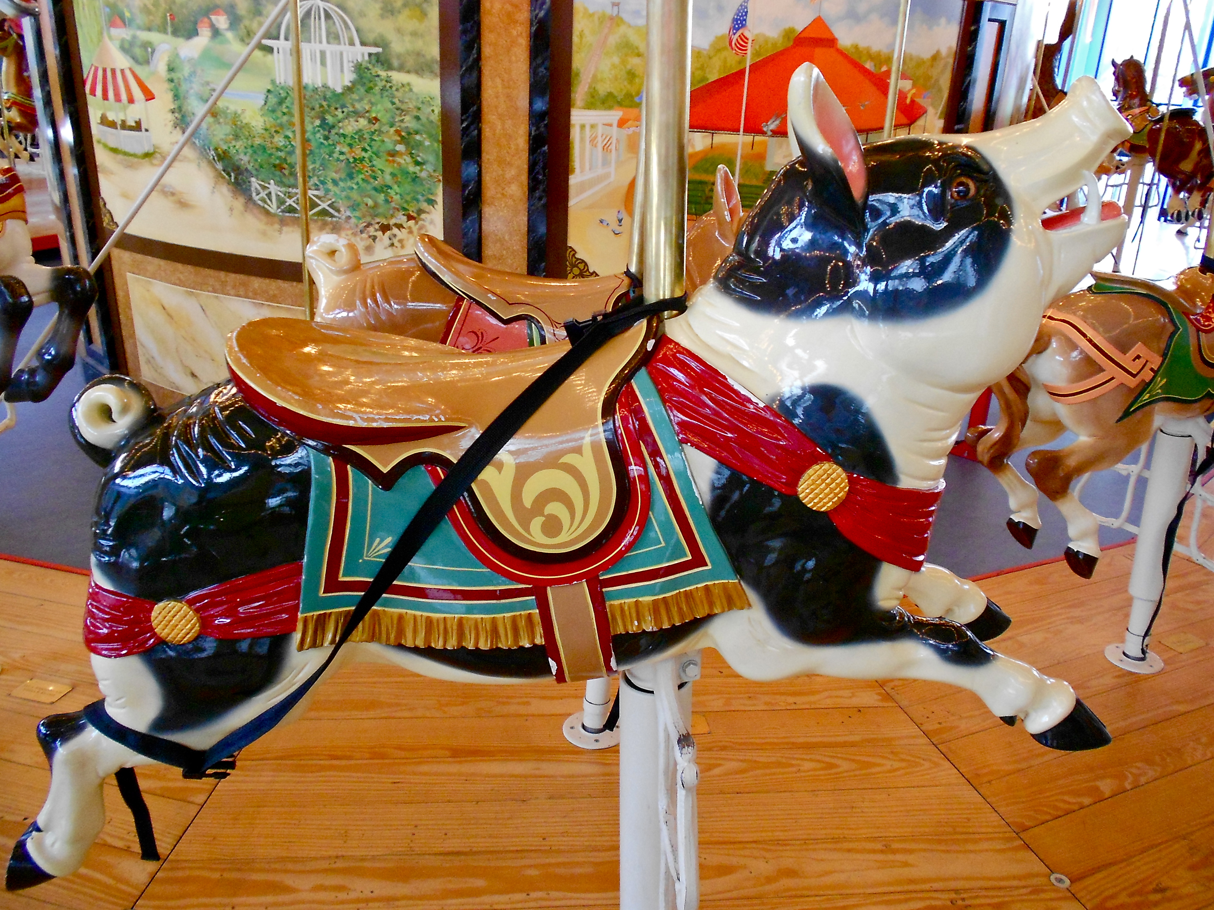 National carousel association denver zoo carousel african wild dog - Pig Figure On The Dentzel Carousel At Please Touch Museum In Philadelphia Carousels Pinterest Carousel Horses Family Trees And Doll Houses