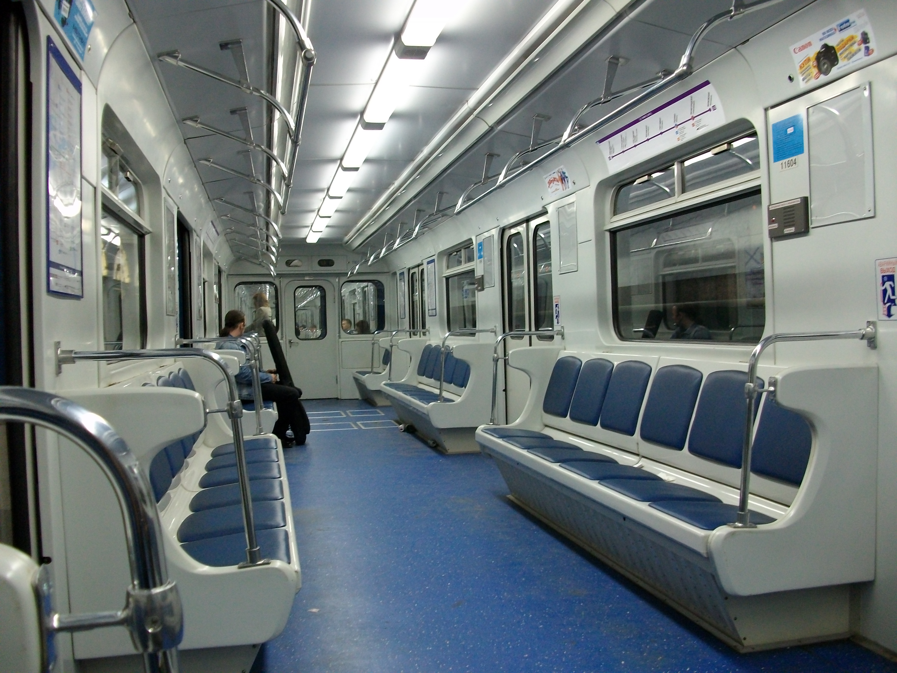 inside subway train. Black Bedroom Furniture Sets. Home Design Ideas