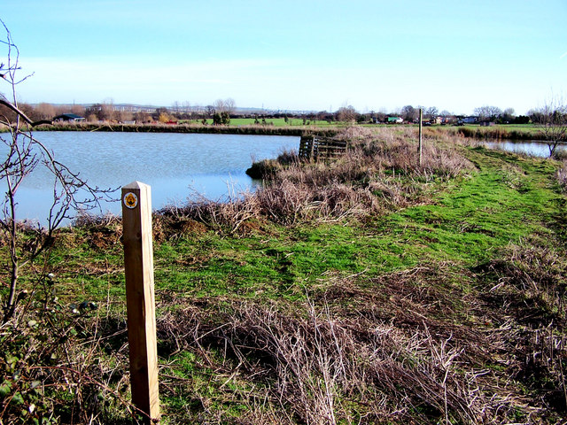 Ponds beside the Saxon Shore Way - geograph.org.uk - 675106