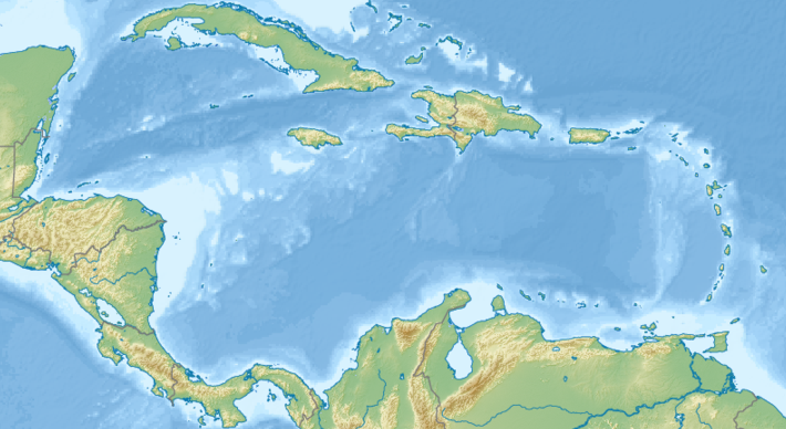 File:Relief map of the Caribbean Sea.png - Wikimedia Commons