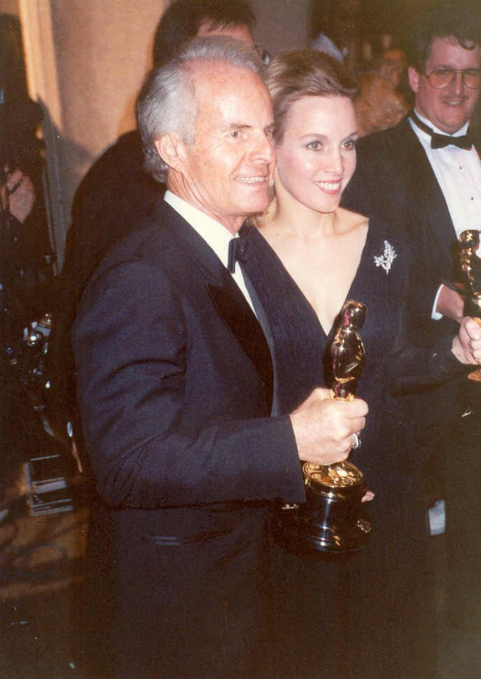 Zanuck with her husband in 1990