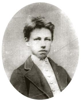 Rimbaud en 1870, a los 15años de edad.