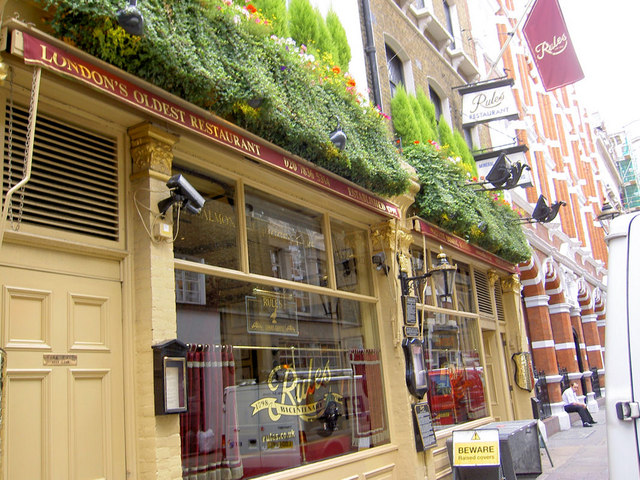 Rules restaurant wikipedia for Cafe le jardin bell lane london