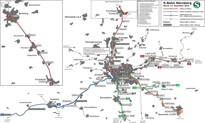 Schienennetz Nürnberg Fürth Vgn