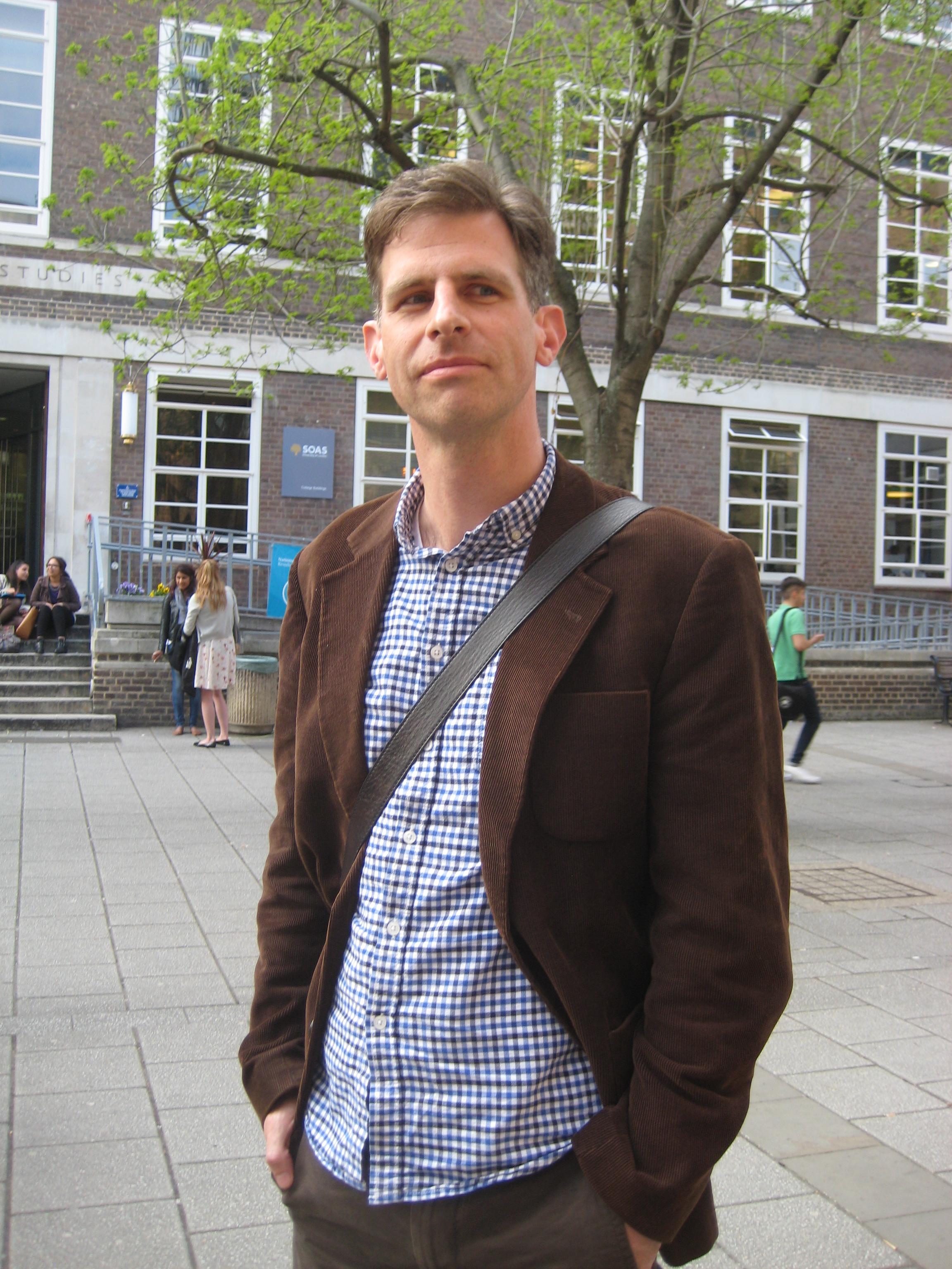 Sam van Schaik at [[SOAS University of London]] in 2013