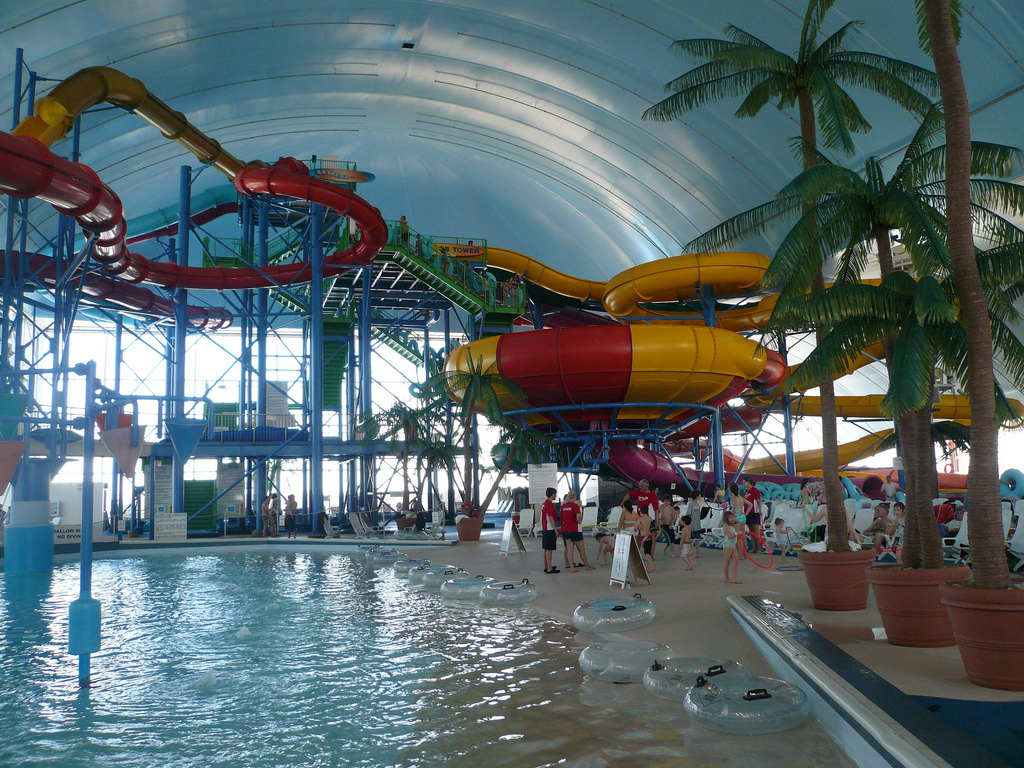 Indoor pool with waterslide  Fallsview Indoor Waterpark - Wikipedia