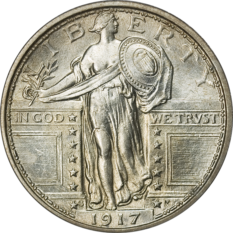 Standing_Liberty_Quarter_Type1_1917S_Obv