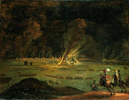 The assault of Copenhagen on the night between 10 and 11 February 1659 by Daniel Vertangen, 1659.