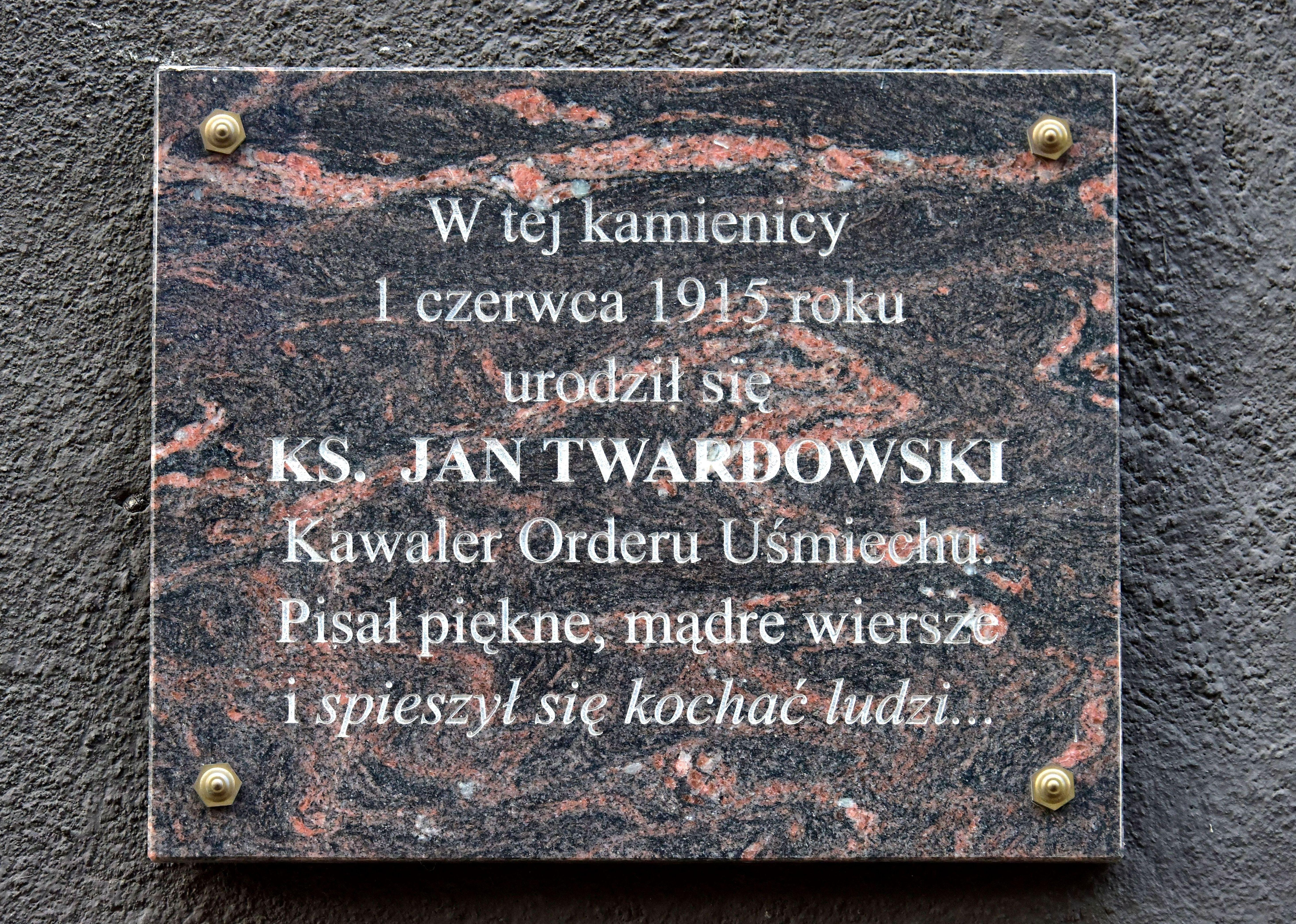 Filetablica Jan Twardowski Ul Koszykowa 20 W Warszawiejpg