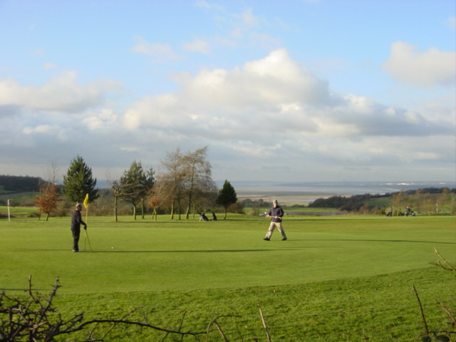 The 6th green at Frodsham Golf Club from the Delamere Way - geograph.org.uk - 96490