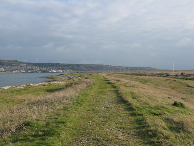 The old track bed of the Weymouth and Portland Railway - geograph.org.uk - 715657
