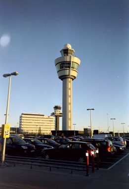 Air traffic control towers at Amsterdam Airport Towers Schiphol small.jpg