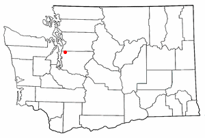 Location of Lake Forest Park, Washington