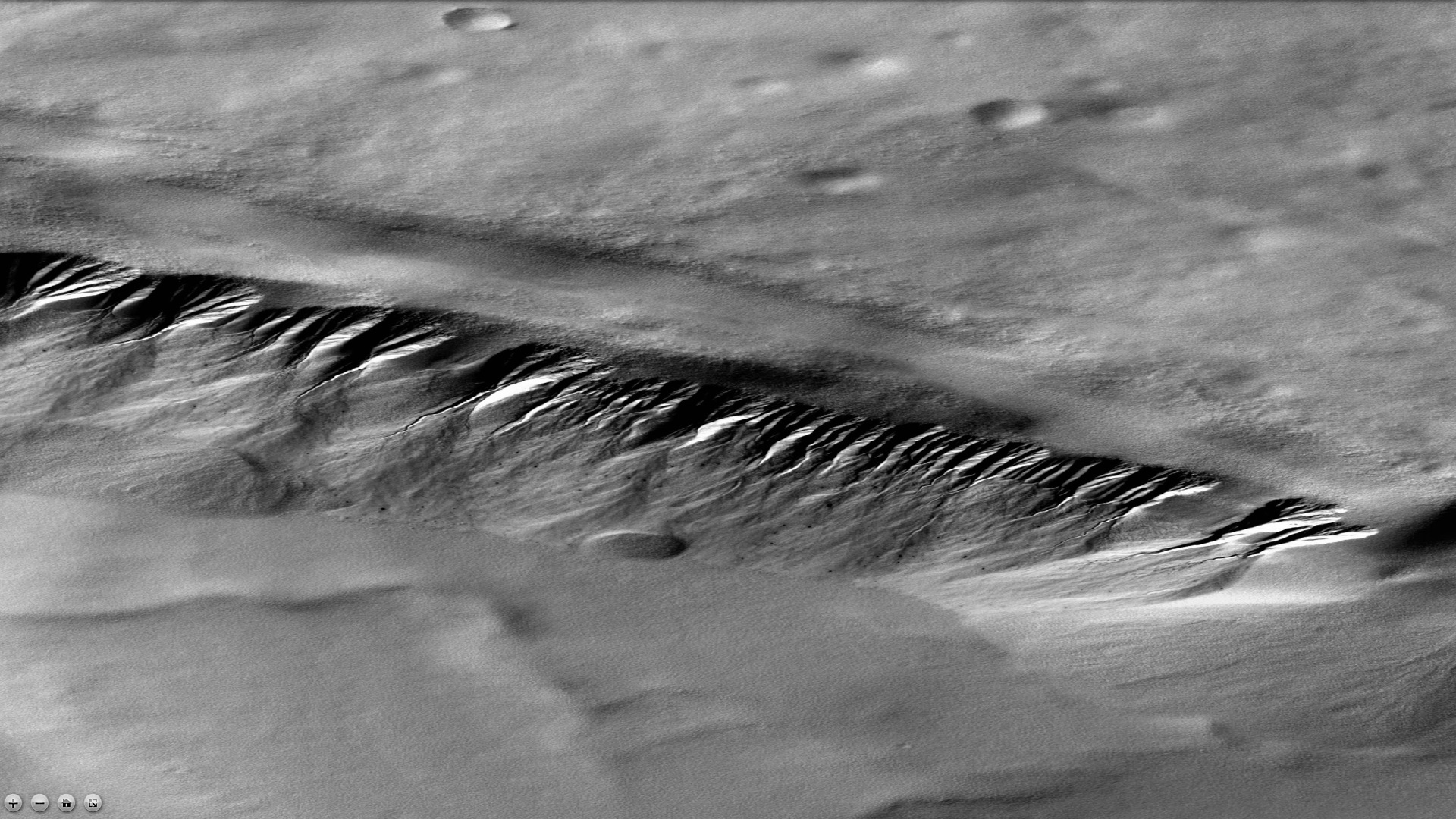 Gullies in Lyell crater, as seen by CTX camera