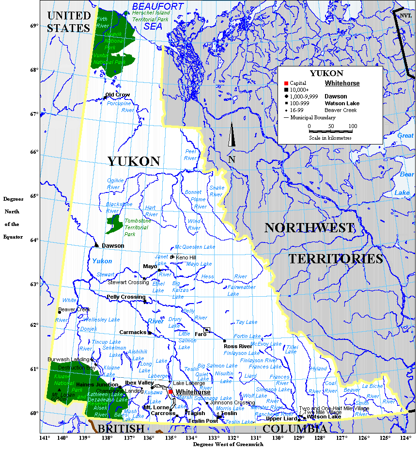 Geography Of Yukon Wikipedia - Map of mountain ranges in the united states