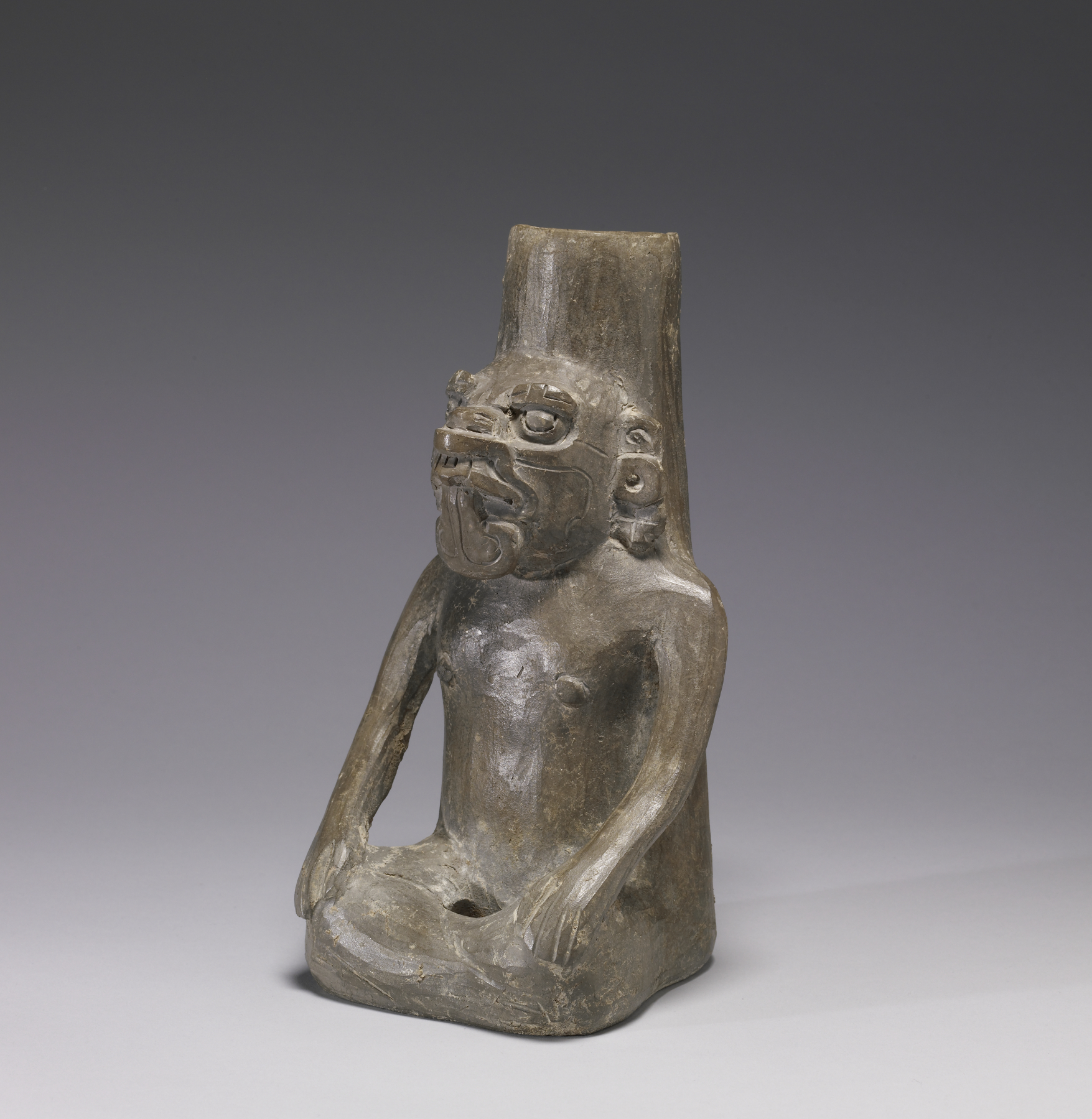 File Zapotec - Figural Urn of a Masked Deity - Walters 2006158 - Three    Zapotec Tombs