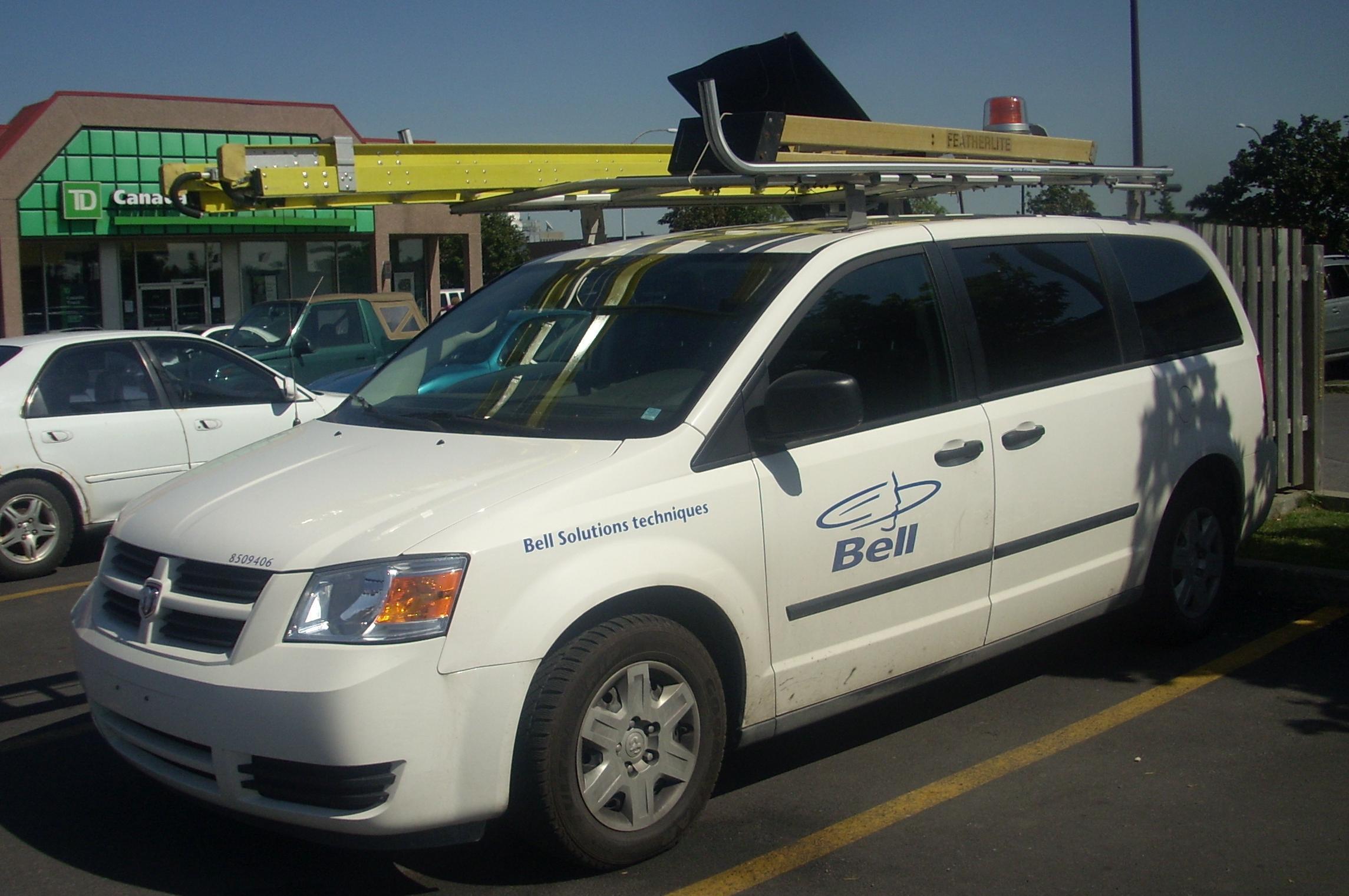 Service van with previous Bell Canada logo