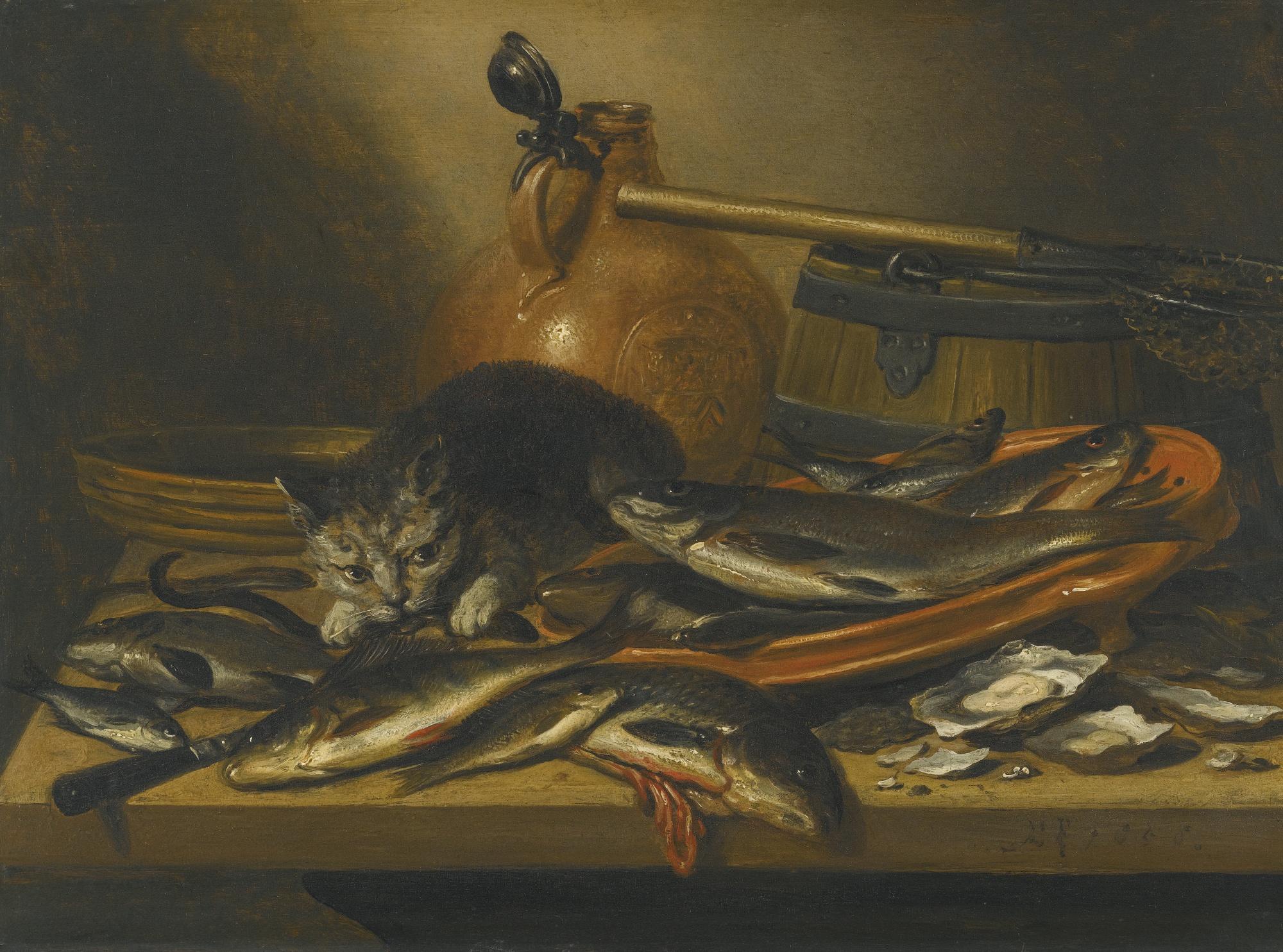 Pieter claesz 1596 1661 dutch for Cat goes fishing wiki