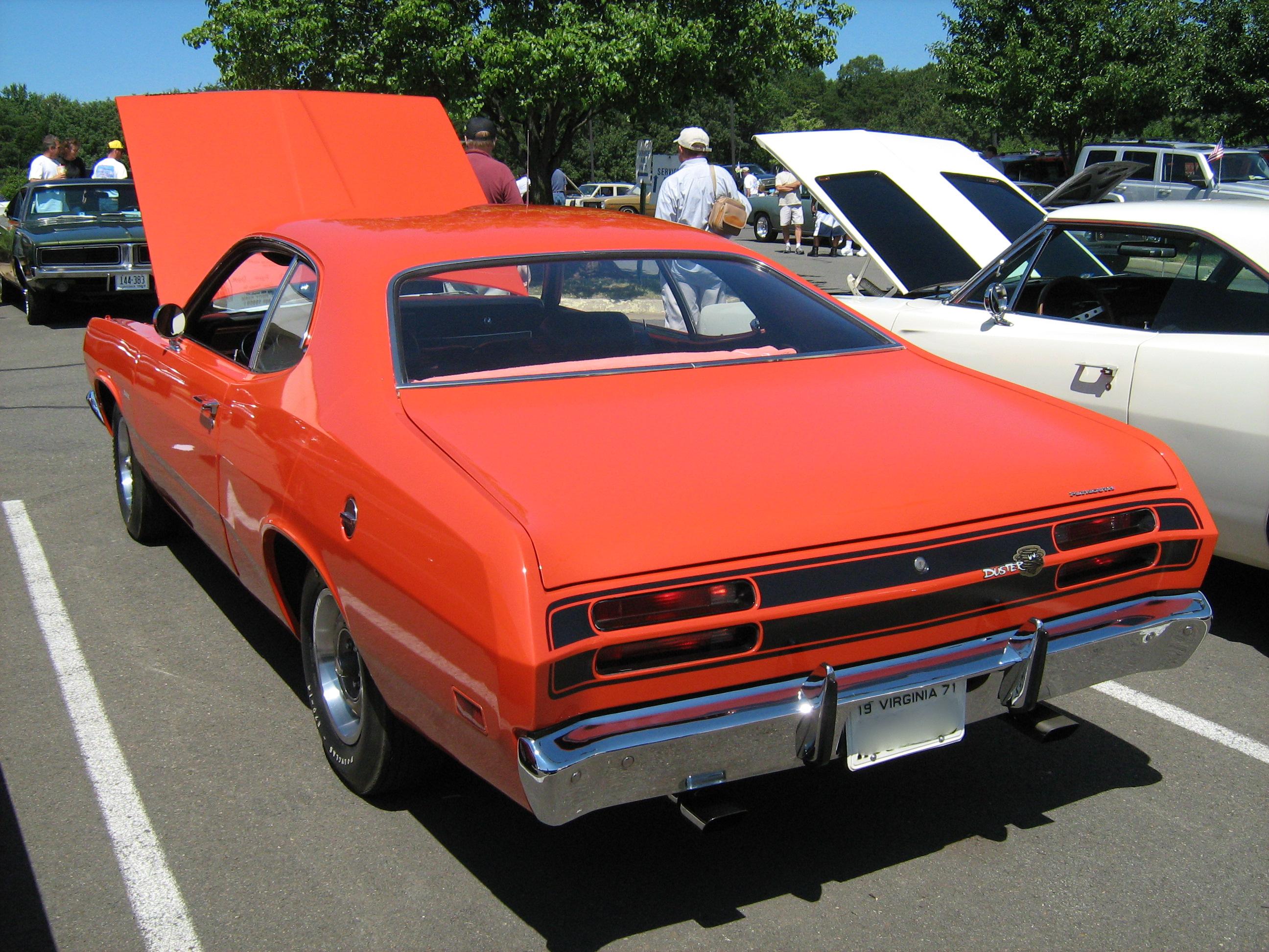 Dodge Demon Dashboard >> File:1971 Plymouth Duster Orange va-r.jpg - Wikimedia Commons