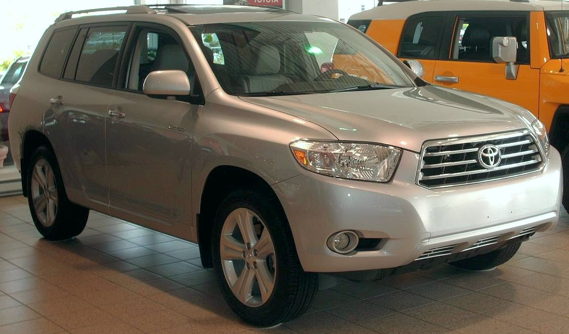 File 2008 Toyota Highlander Limited Jpg Wikimedia Commons