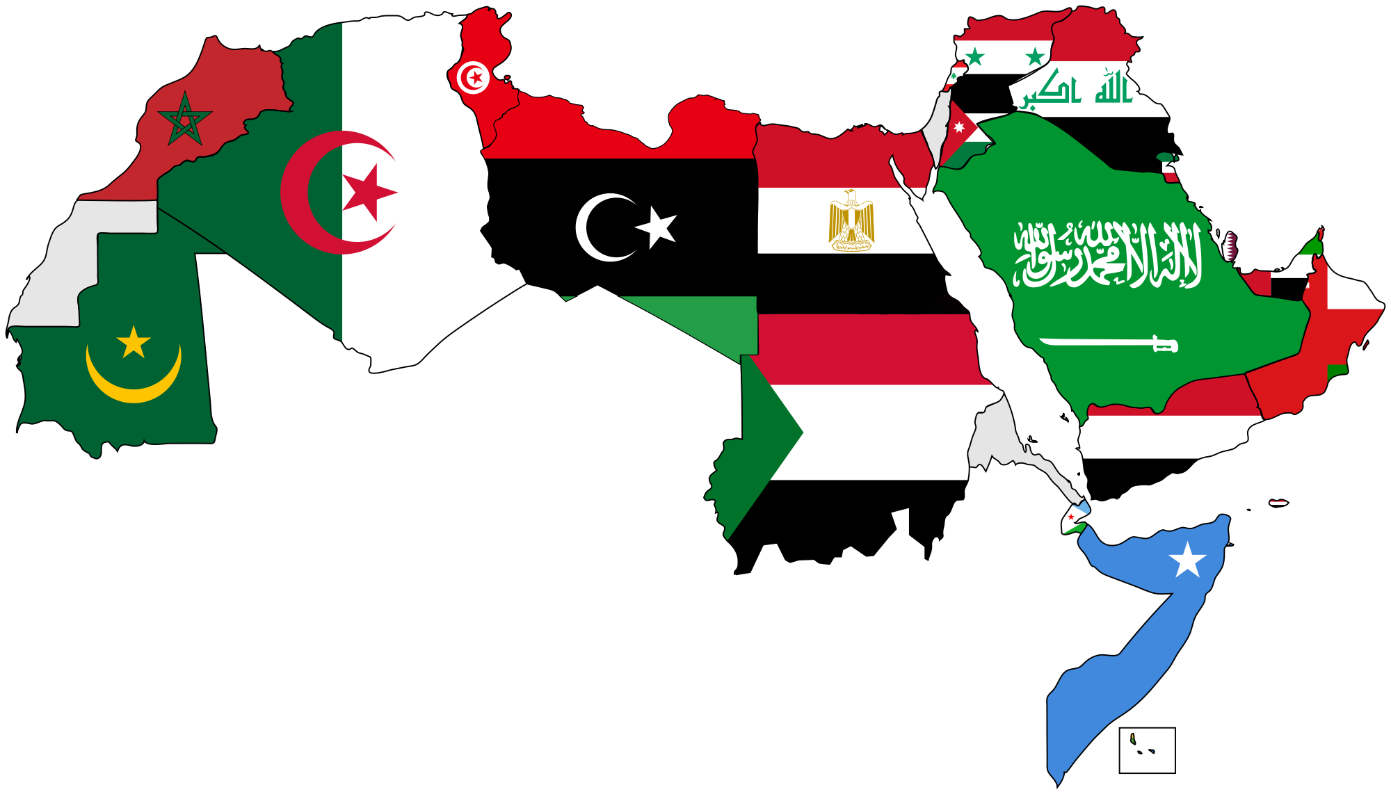 filea map of the arab world with flagspng