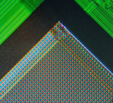 A micrograph of the corner of the photosensor array of a 'webcam'