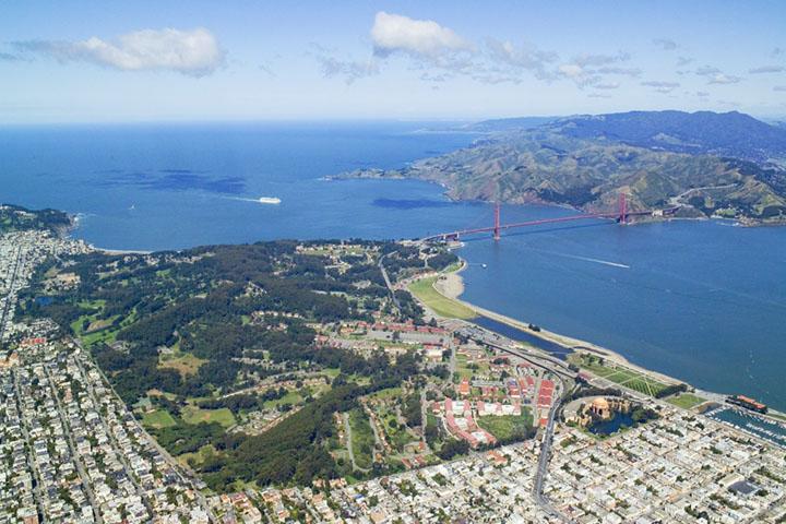 Bay Bridge View From Treasure Island