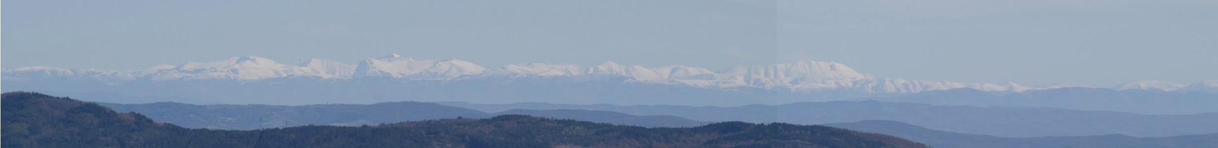 Veduta Amiata su Monti Sibillini