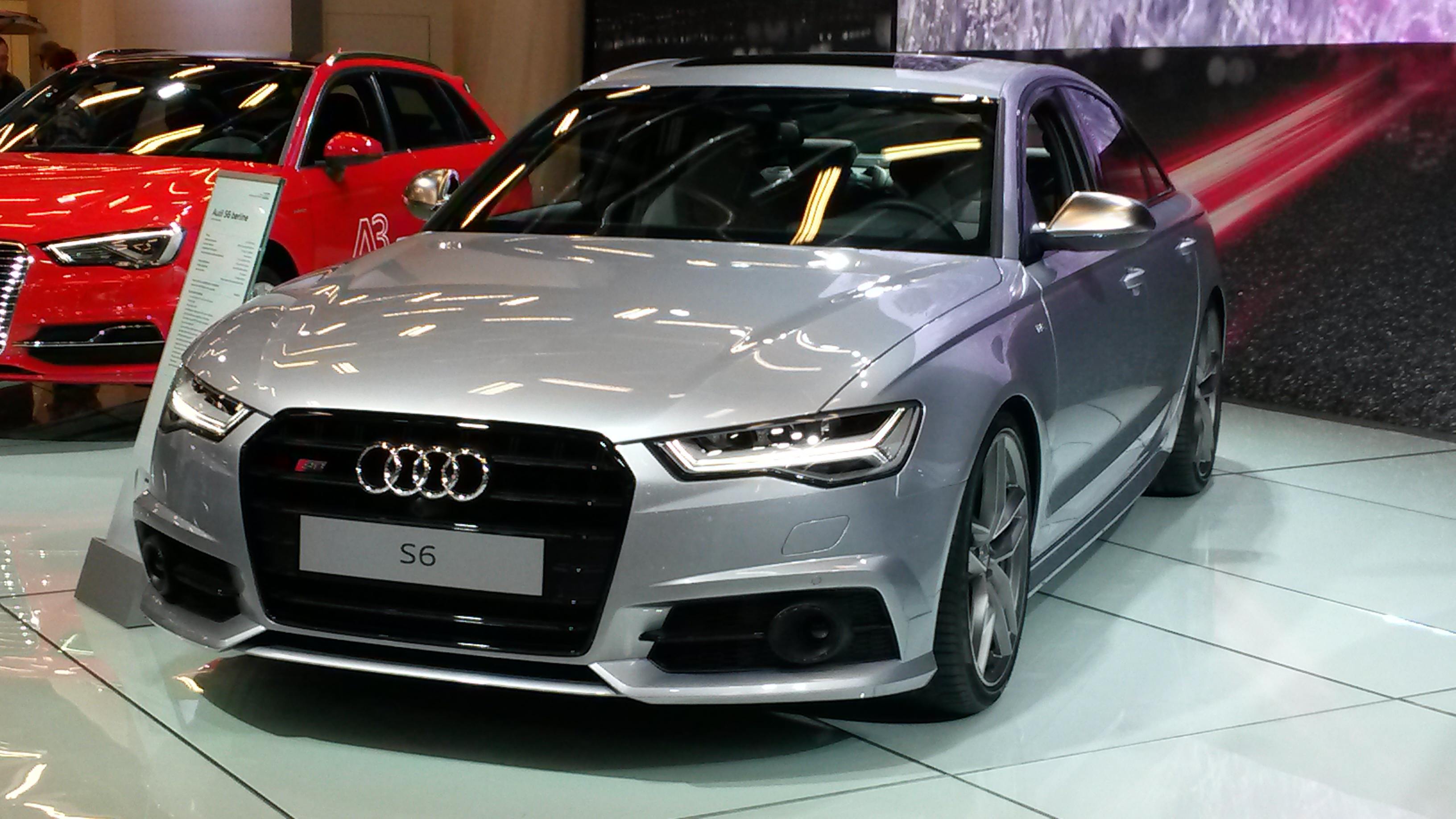 file audi s6 in salon international de l auto de montr al wikimedia commons. Black Bedroom Furniture Sets. Home Design Ideas